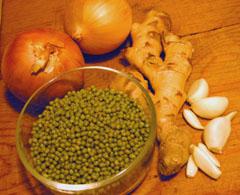 mung beans and rice kitcheree